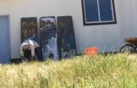 5. Activst artist Kevin D. Blanch making  an REAL Fresco