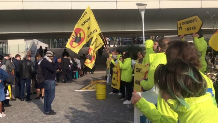 Fukushima news; HISTORIC PROTEST IAEA Vienna conference roll of Nuclear energy climate crises 2019